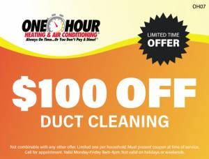 $100 Off Duct Cleaning