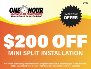 $200 Off New Mini Split Installation