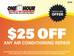$25 Off Any Air Conditioning Repair