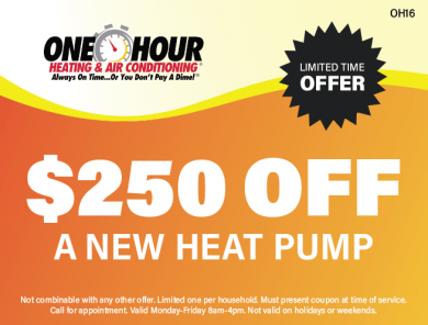 $250 Off A New Heat Pump