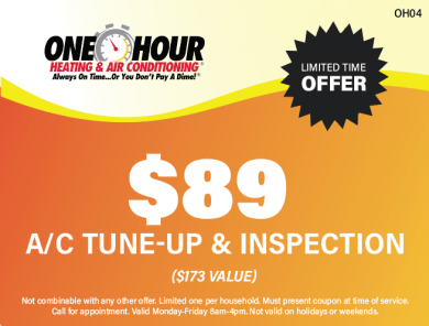 $89 Air Conditioning Tune Up