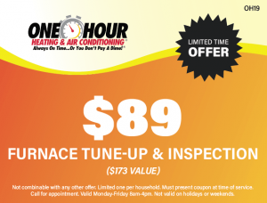 $89 Furnace Tune Up